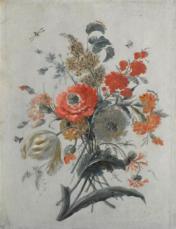 flowers and insects study by adèle riché