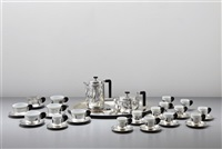 coffee and tea service (set of 55) by wilhelm hülse