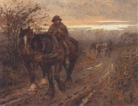 the weary beasts returning frae the plough by harold joseph swanwick