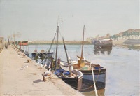 a harbor scene by charles walter simpson