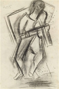 le violiniste by jacques lipchitz