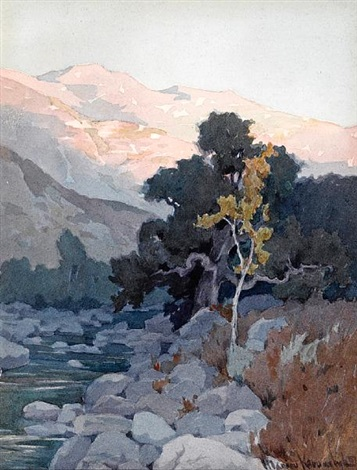the creek at sunset by marion kavanaugh wachtel