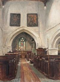 intérieur d'église à hinton wilshire by nestor cambier