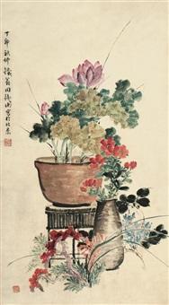 花卉 (flowers) by zhou tieheng