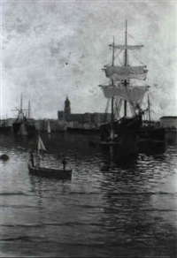 vele nel porto di barcellona by francisco gutierrez rivera