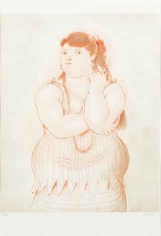 mujer fumando by fernando botero