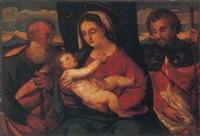 sacra famiglia con san rocco by girolamo da santacroce