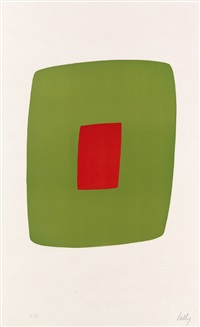 green with red by ellsworth kelly