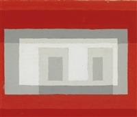 study for a variant ii/study for adobe by josef albers
