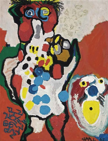eating the whole world personnage by karel appel