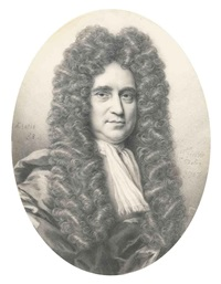 portrait of john blackstone aged 58, in a long-flowing wig by thomas forster