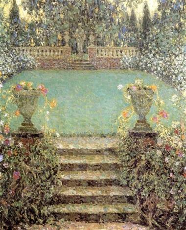 Les marches du jardin a gerberoy by henri le sidaner on artnet for Le jardin le moulleau