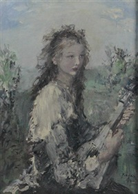portrait of a girl by aurel naray