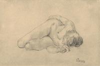 akt (nude) by george grosz