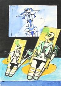 opalování (oboustranná kresba) by jiri naceradsky