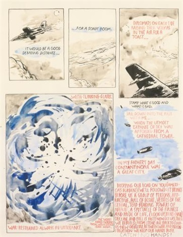 untitled it would be a good debating distance by raymond pettibon