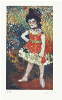 la danseuse naine, from the barcelona suite by pablo picasso