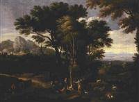 paesaggio con figure by francois simonot