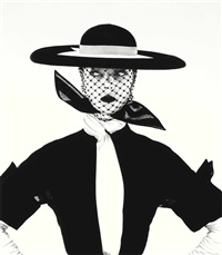 black and white vogue cover (jean patchett), new york by irving penn