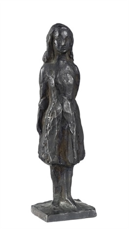design for anne frank standing by mari silvester andriessen