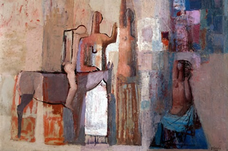 composición con figuras y caballo by zdravko ducmelic