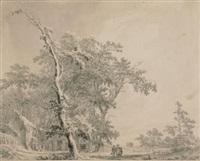 sommerliche landschaft mit einem gehöft by paul van liender