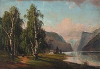 landscapes from the telemark in norway (2 works) by magnus thulstrup bagge