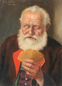 the old card player by fritz muller