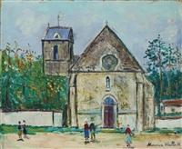 eglise de saint-hilarion (seine-et-oise) by maurice utrillo