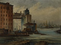 lower manhattan from brooklyn by eugène laforet