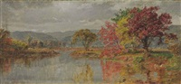 lake in autumn by jasper francis cropsey