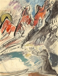 tessiner landschaft (chi sono io) by marianne werefkin