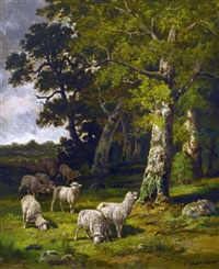 berger et son troupeau by charles ferdinand ceramano