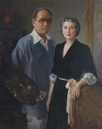 self portrait with wife by henry r. rittenberg