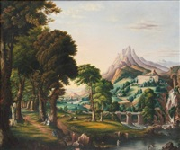 the arcadian or pastoral state and desolation from the course of empire (pair) by erastus salisbury field