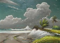 beach scene by harold newton