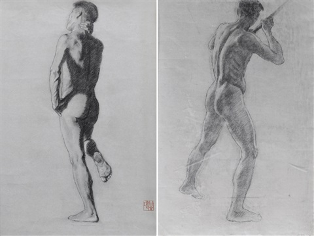 運動的人體 sketches alethics 2 works by xu beihong