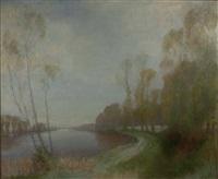 river landscape in spring by robert macaulay stevenson