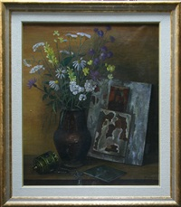 still life with an old icon by tatiana nazarenko