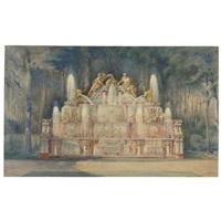 la fontaine du buffet d'eau, grand trianon, versailles by noël marcel lambert