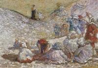 enfants sur la plage by pierre billet