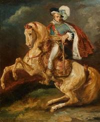 portrait équestre de s.m., le roi de westphalie, jérôme bonaparte, d'après antoine-jean gros by théodore géricault