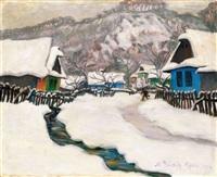 tél nagybányán (winter in nagybánya) by géza kádár
