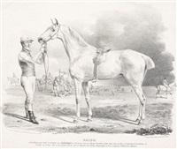 pferdedarstellungen (4 works) by franz krüger