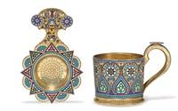 tea holder and strainer by antip ivanovich kuzmichev