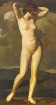 woman nude by móric gábor