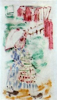 kvinna vid sjöbodar by ragnars andberg