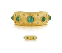suite: cuff bracelet; ring (2 works) by buccellati
