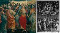 le christ apparaissant à la vierge et aux apôtres by bernardino lanino