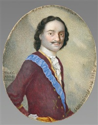 pierre le grand, tsar de russie (1672-1725) by gregori semenovitch mussikiysky